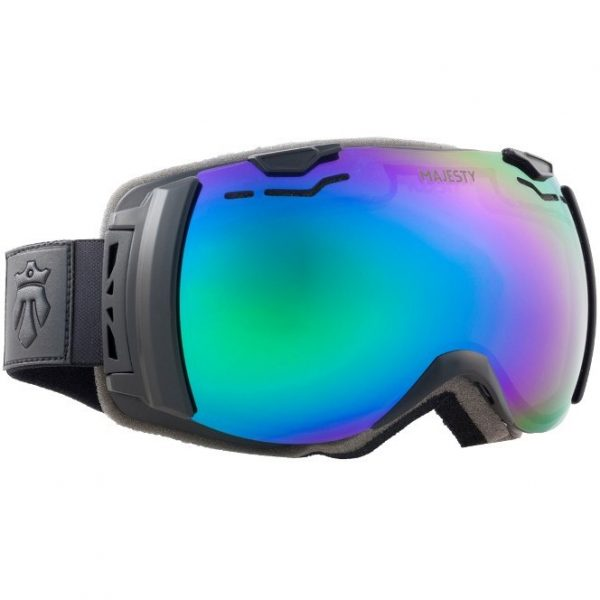Gogle narciarskie Majesty Spectrum 2014/15 black frame/green emerald mirror