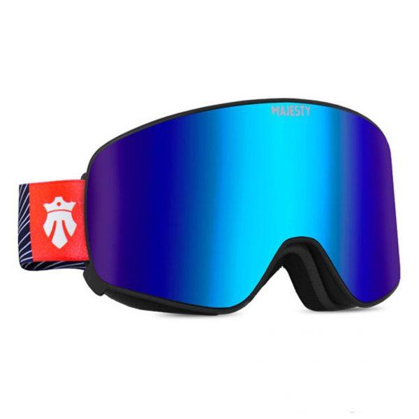 Gogle narciarskie Majesty Force 2018 black frame/indygo sapphire mirror