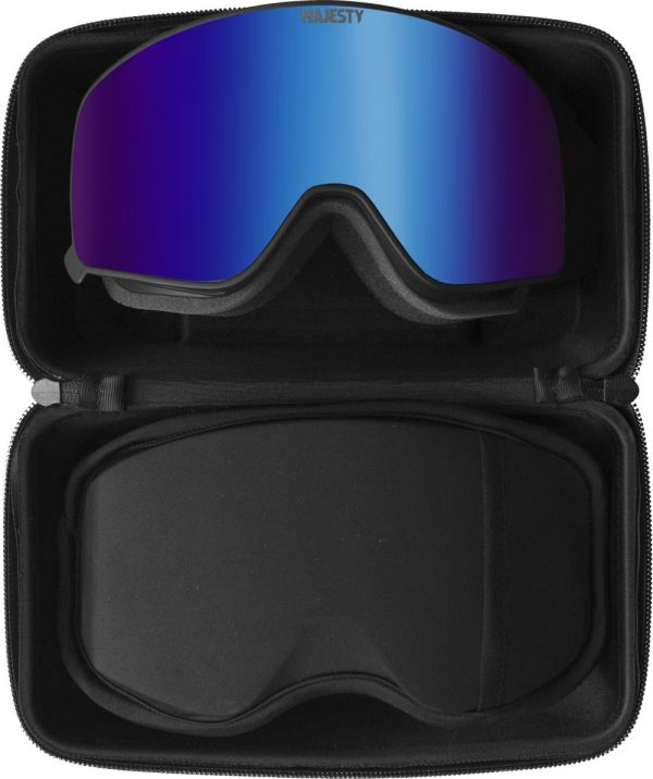 Gogle Majesty Force 2018 black frame/indygo sapphire mirror