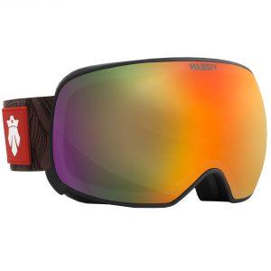Magnetyczne narciarskie Gogle Majesty The Force Spherical black frame / ultraviolet lens