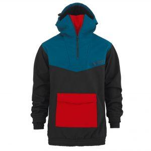 Softshell Anorak blue / black /red