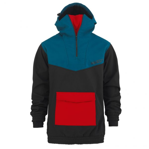 Softshell Anorak blue / black /red