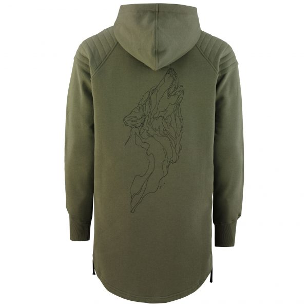 Wolfshood Tall Hoodie army green