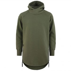 Wolfshood Tall Hoodie army green