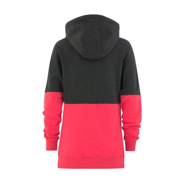 Flipside Lady Hoodie graphite / pink