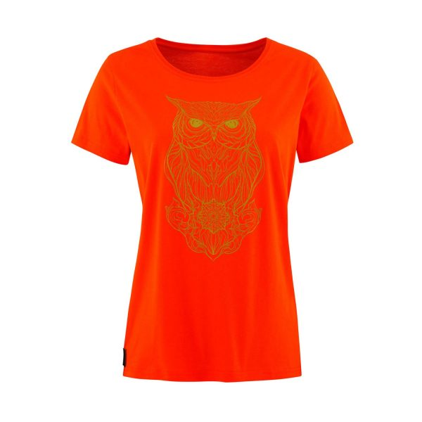 Lady T-shirt Owl orange