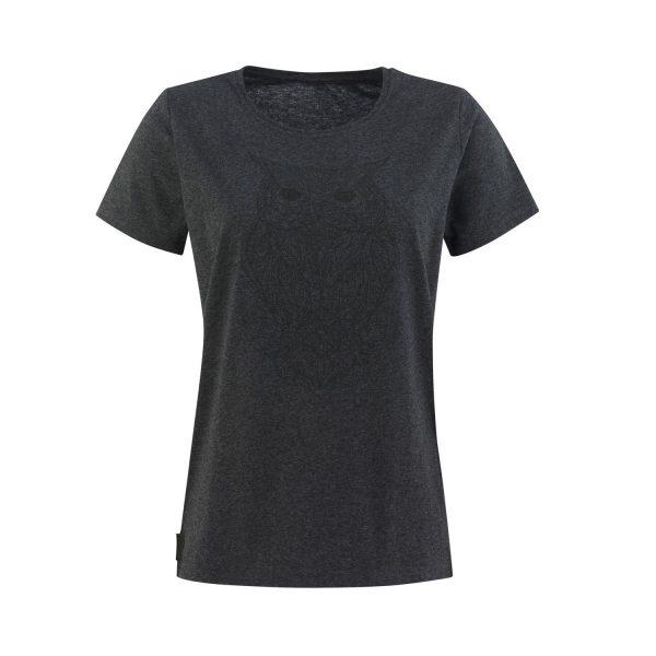 Lady T-shirt Owl graphite