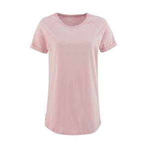 Lady T-shirt Velvet powder pink