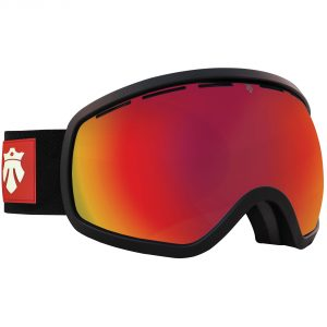 Gogle Majesty One11 black matt/red ruby